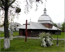 Glynyany, old wooden church