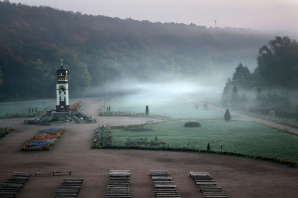 Zarvanytsya, morning mist