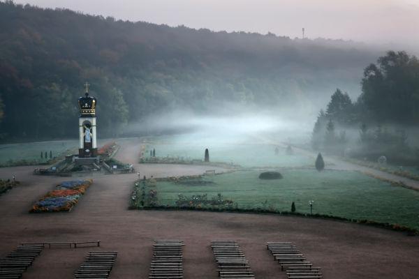 Zarvanytsya, morning mist